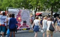 Village Sécurité au Sablon à Bruxelles pendant la Fête nationale